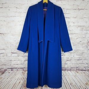 70s Vintage Union Blue Wool Coat